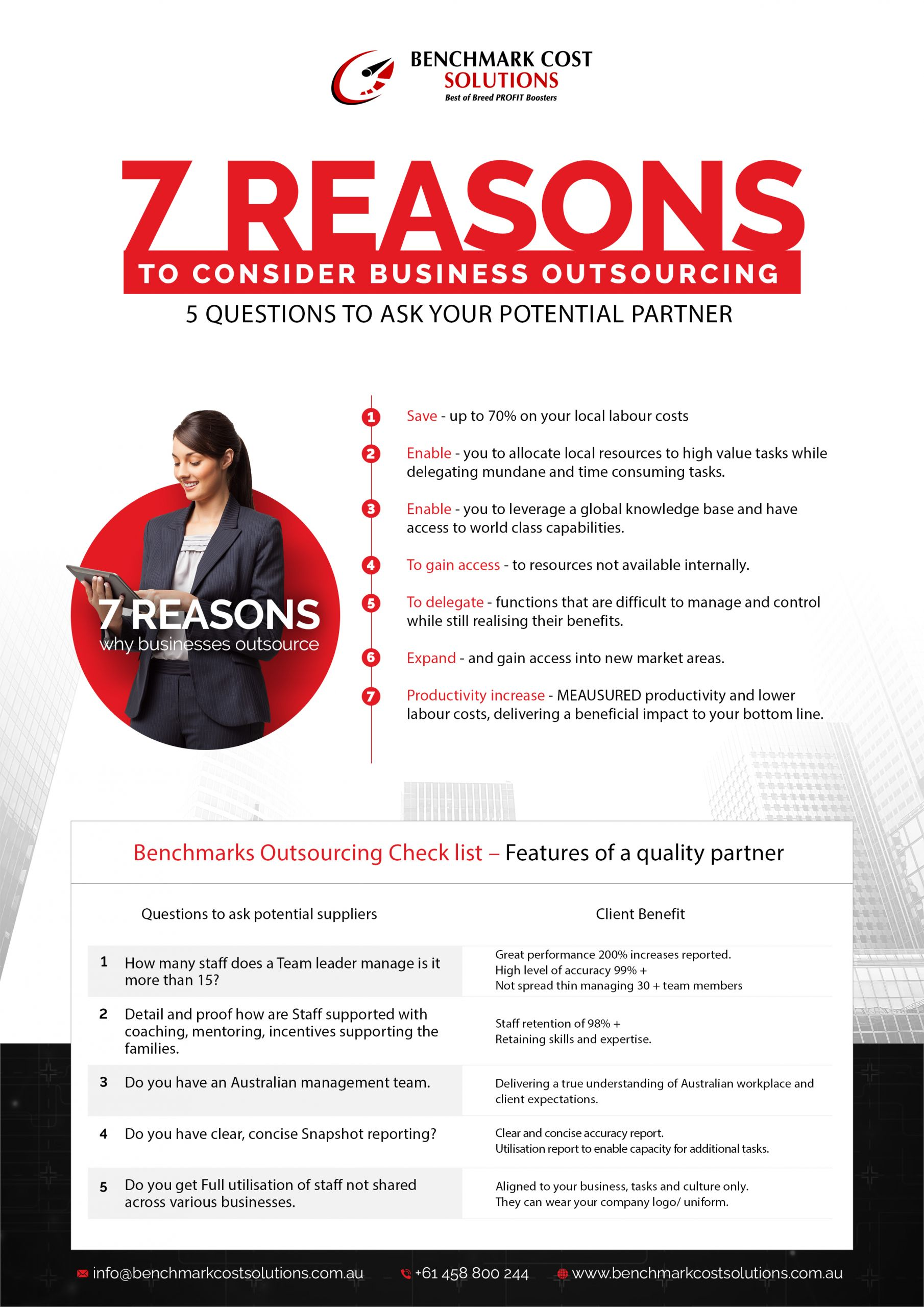 7 Reasons-Benchmark Cost Solutions