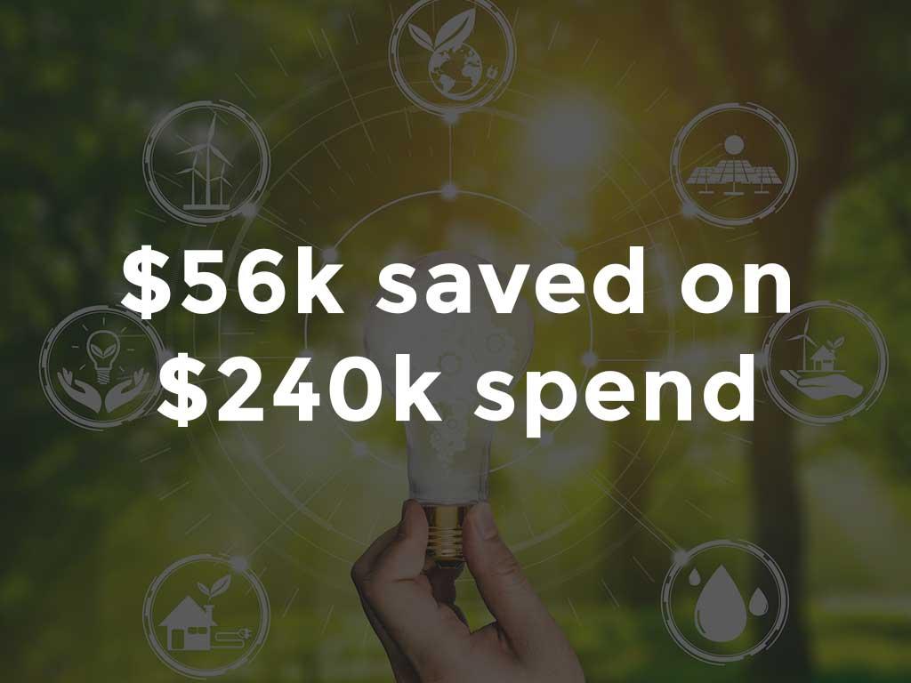 $56K savings energy benchmarking