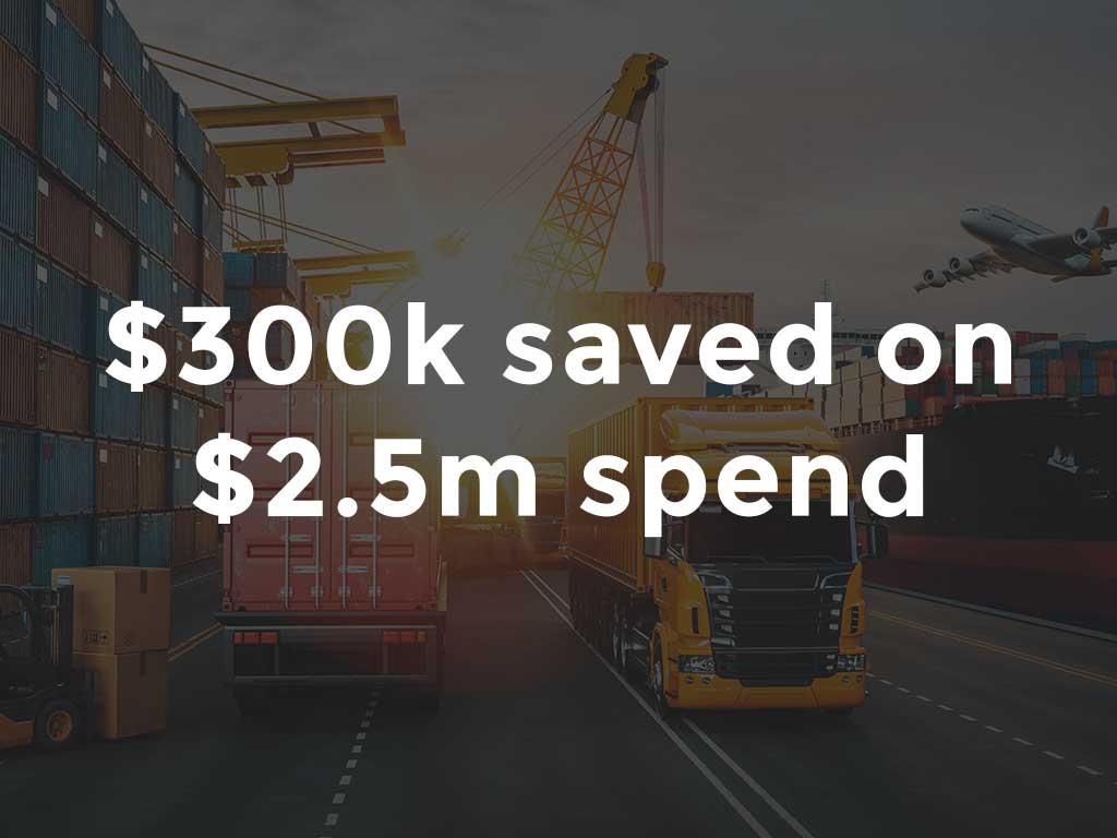 $300K savings on transport benchmarking