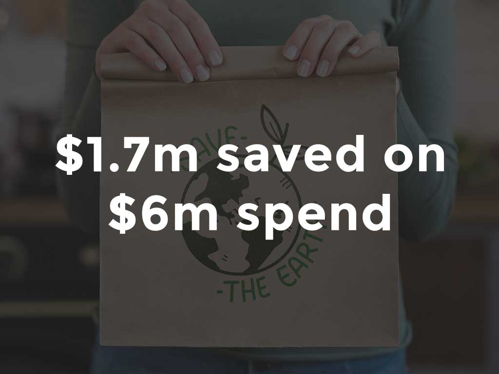 $1.7M savings on waste management